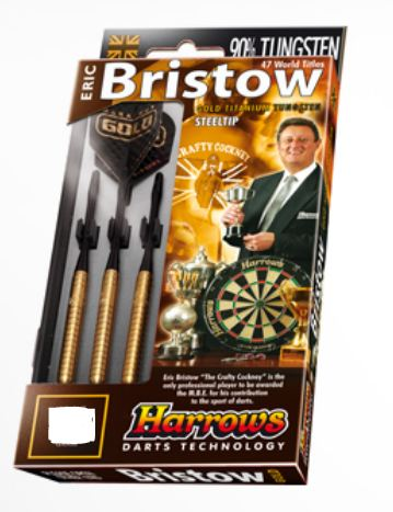 Harrows Šipky Steel Gold 24gR Eric Bristow 90%