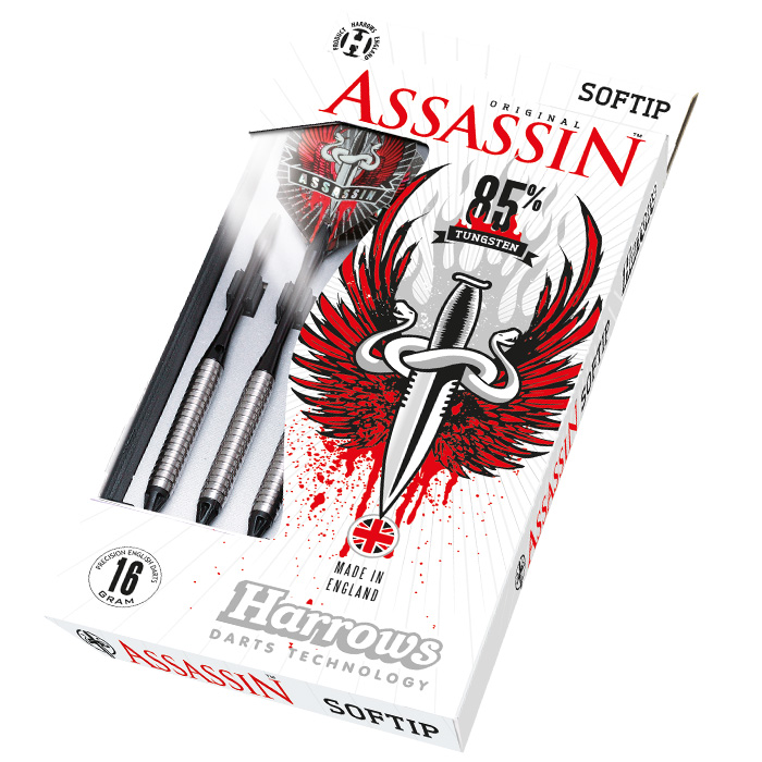 Harrows Šipky Assassin 85% Style A 20gR