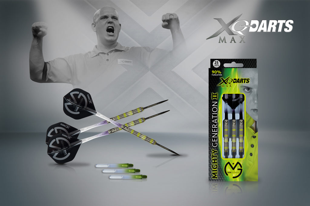 XQMax Šipky steelové 90% Tungsten Michael van Gerwen 25gR.- Mighty Generation