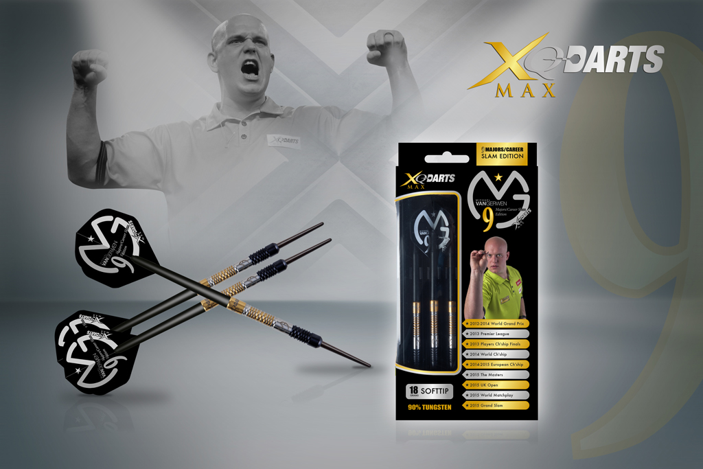 XQMax Šipky softové 90% Tungsten Michael van Gerwen 18gR. - Career Slam