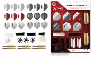 Sada XQMax Darts Accessory Kit soft šipky 18g