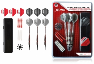 Sada XQMax Darts Soft šipky  Nickel Plated 18g