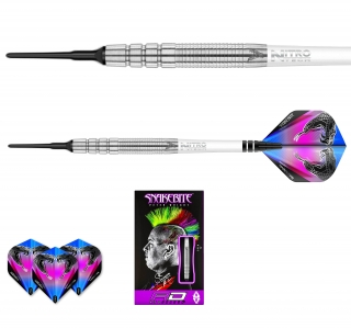 Šipky soft Peter Wright Snakebite PL15 18g Tungsten 90% RED DRAGON