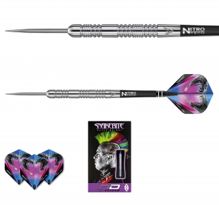Šipky steel Peter Wright Snakebite Euro 11 20g Tungsten 85 RED DRAGON