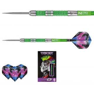 Šipky steel Peter Wright Snakebite Mamba 22g Tungsten 90% RED DRAGON