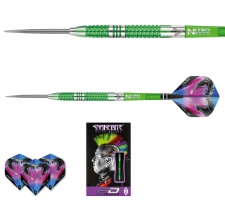 Šipky steel Peter Wright Snakebite Mamba 2 24g Tungsten 90% RED DRAGON