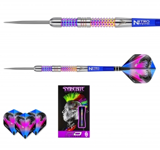 Šipky steel Peter Wright Snakebite Rainbow Mamba 24g Tungsten 90% RED DRAGON