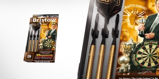 Harrows Šipky Steel Gold 26gR Eric Bristow 90%
