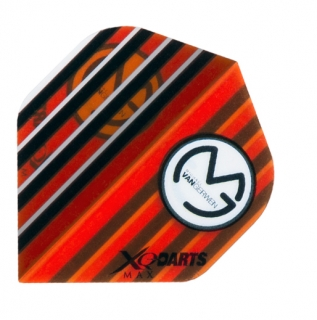 XQMax Darts Letky XQMax 100  - Michael van Gerwen - MvG Transparent Orange