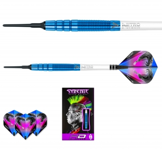 Šipky soft Peter Wright Snakebite PL15 18g blue Tungsten 90% RED DRAGON