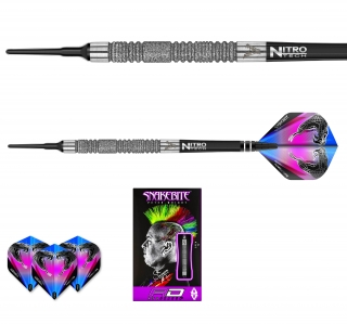 Šipky soft Peter Wright Snakebite Euro 11 Element 18g Tungsten 85 RED DRAGON