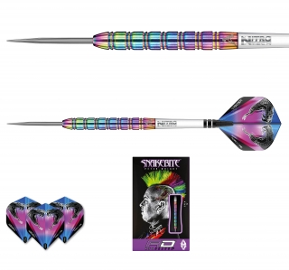 Šipky steel Peter Wright Snakebite 1 22g Tungsten 85% RED DRAGON